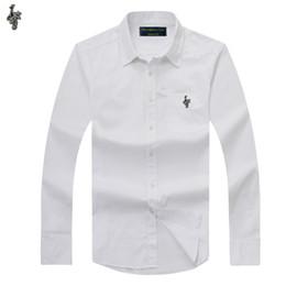 Wholesale white oxford shirt slim for sale – dress Plus size New OXFORD FABRIC COTTON excellent comfortable slim fit button collar business men casual shirts tops K881