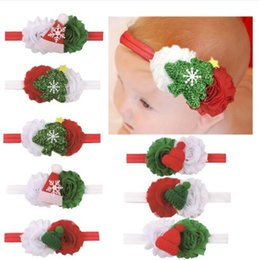 Mexican Christmas Party Decorations Australia - 8 Colors Infant Hairband Children Headband Girl Christmas Tree Decoration Hair Accessories Cotton Flower Hairbands FD3073