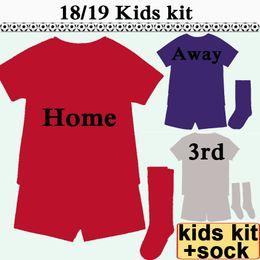 China 2018 19 SALAH FIRMINO Kids Kit Soccer Jersey LALLANA MATIP Home Away 3rd M.SALAH Boy Girl Football Shirts MANE STURRIDGE Child Uniforms supplier black girl uniform suppliers