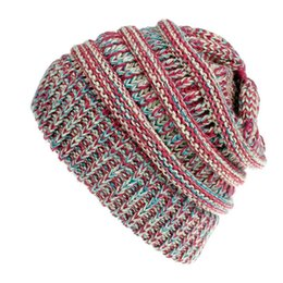 8b5db031975572 Ponytail Beanie Australia - MISS M Woolen Knitted Hat For Women Autumn And  Winter Warm Ponytail
