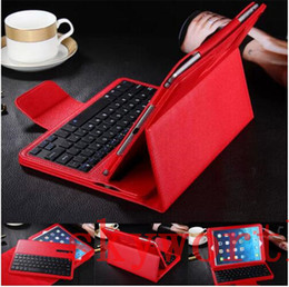 keyboard wireless tab UK - Removable Wireless Bluetooth Keyboard leather Case Stand For Samsung Galaxy Tab 4 E A S S2 T560 T350 T710 T810 T800 T700 T230