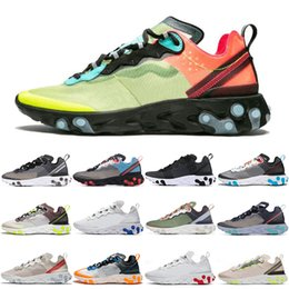 $enCountryForm.capitalKeyWord Australia - 2019 React running shoes for men women white black Sail Royal Tint blue Desert Sand mens designer breathable sports sneakers