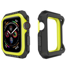 Discount tpu iwatch - Smart Watch Sports Protective Case 38 40 42 44mm Soft TPU PC Protector Cases Silicone Defender Cover For iWatch Apple Wa