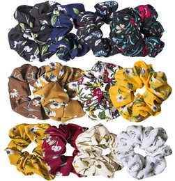 $enCountryForm.capitalKeyWord UK - 12 Pack Chiffon Hair Scrunchies Flower Scrunchy Hair Bobbles Floral Hair Ties Ponytail Holder for Women Girls- 12 Assorted Colors