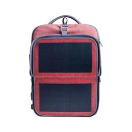 $enCountryForm.capitalKeyWord UK - HANERGY Solar Backpack 9W Thin Film Flexible Hindden Solar Panel Laptop Backpacks College Travel Bag (Pink) - with 2 USB Charging Port