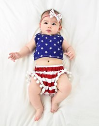 Jumpsuit Year Baby Australia - 4th of july independence day toddler girls rompers tassel baby fourth of july american flag summer usa jumpsuit infant boutique clothing
