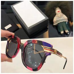 5c2227ee27 des lunettes de soleil 2018 men designer sunglasses G082101 luxury brand  designer sunglasses for women Color frame horizontal stripes.