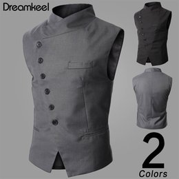 $enCountryForm.capitalKeyWord Australia - Mens Vest Fashion Brand Vest Men High Quality Black Gray Formal Business Men Fit Suits & Blazer for New Arrival Y