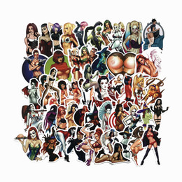 sexy halloween girls cartoons Australia - 50pcs Bad Sexy Bikini Girl Devil Car Sticker for Motorcycle Graffiti Skateboard Laptop Luggage Guitar Waterproof Halloween Decals