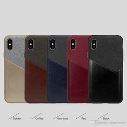Pocket Plus Cell Phone Holder Australia - New luxury leather case pocket for iphone XR XS MAX X 6S 7 8 plus cell phone credit card holder slots for Samsung Galaxy S8 S9 Plus Note 8 9