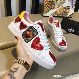 2018 New Arrive DOLCE & GABBANA D.G D & G WOMEN'S SHOES LEATHER TRAINERS SNEAKERS NEW PORTOFINO WHITE 50C Sneaker With Box from take pictures manufacturers