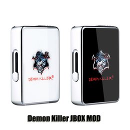 Auténtico Demon Killer JBOX MOD 420mAh Batería LED Indicador Mod Para JC01 Coco Thick Oil Pod Cartuchos Genuino