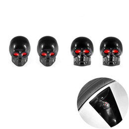 $enCountryForm.capitalKeyWord Australia - Universal Skull Car Moto Bike Tire Wheel Valve Cap Dust cover Car Styling for Fiat Audi Ford Bmw toyota Honda VW 4Pcs lot