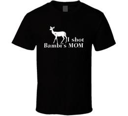 Lowest Price T Shirt Australia - I Shot Bambi's Mom Funny Cartoon Hunter Parody Men T-Shirt Lowest Price 100 % Cotton