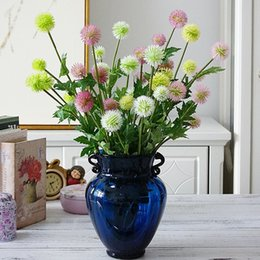 $enCountryForm.capitalKeyWord NZ - 5 Heads Dandelion Branch Artificial Flower Ball Diy Wedding Party Decoration Plastic Pompom Flores Fake Plants Flower Wreath