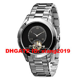 dial box NZ - Free Shipping New Gents AR4639 AR 4639 Watch Round Case with Black Dial mechanical Movement Water Resistant + Original box