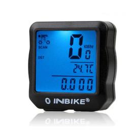 Discount cycling computer stopwatch - INBIKE Waterproof Bicycle Computer LCD Digital Bike stopwatch Cycling Odometer Speedometer Backlight Backlit Multifuncti
