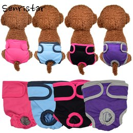 underwear dogs Canada - Supplies Dog Shorts Pet Female Dog Physiological Pants Sanitary Diaper Washable Menstruation Underwear Briefs For Small Medium Girl Dogs ...