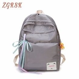 Cute Korean Style Backpacks Australia - Bow Women Nylon Backpack Travel Sports Cool Youth Travel Korean Style To School Fashion Cute Backpacks For Casual Concise