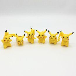 Stock Figures Australia - 120pcs New 6pcs 3-5cm pikachu Figures Pock PVC Action Figure minifigures yellow Pikachu DIY Toys Dolls Free shipping in stock