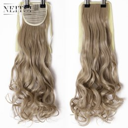 hair clip tail curly 2019 - Neitsi Curly Long Clip In Hair Tail False Hair Ponytail Hairpiece With Hairpins Synthetic 16# discount hair clip tail cu