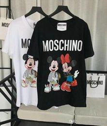 Großhandel 19ss frauen designer t-shirt frühling sommer teddybär druck t-shirts beiläufige lose rundhalsausschnitt brief t-shirt streetwear