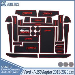 Anti-Slip Mat For F150 F-150 Raptor F Series 2015 2016 2017 2018 2019 Accessories Gate Slot Anti-Dirty Door Groove on Sale