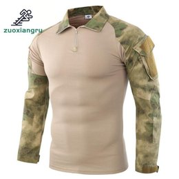 $enCountryForm.capitalKeyWord Australia - Ruin camouflage Army Hiking T-shirts Men Soldiers Combat Tactical Force Multicam Camo Long Sleeve Hunting T-shirt