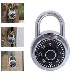 steel lockers NZ - Hardened Steel Shackle Dial Combination Luggage Suitcase Locker Lock Padlock High Quality Universal Suitcase Locker Padlock