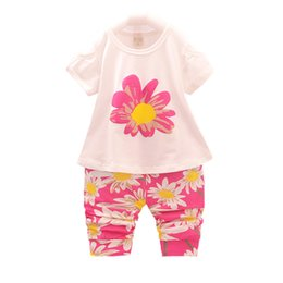 c8aca33b079b Fashion 2019 Summer Children Chinese Style Clothing Sets Baby Girls Flower  T-shirt Pants 2Pcs Sets Infant Outfits Beautiful Suit