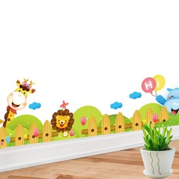 $enCountryForm.capitalKeyWord NZ - Cartoon giraffe animal kick line children's room wall paste kindergarten background wall sticker painting