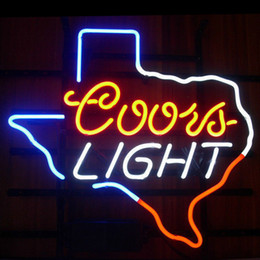 Coors Beer Neon Sign Australia - New Star Neon Sign Factory 17X14 Inches Real Glass Neon Sign Light for Beer Bar Pub Garage Room Coors Light Texas.