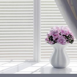 $enCountryForm.capitalKeyWord Australia - 45*100cm 60*200cm Frosted Stained White Frosted Line Blind Style Privacy Stripe Window Film Glass Sticker