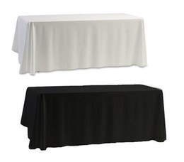 table cloth wholesale Australia - Wholesale White Black Table Cloth Table Cover for Banquet Wedding Party Decor 145x145cm