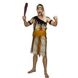 stone costumes Australia - Adult Men Jungle Caveman Costume Cosplay Carnival Original Stone Age Stag The Croods Performance Halloween Party Caveman Suits