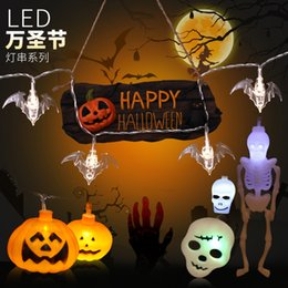 pattern batteries NZ - New Pattern Led Halloween Decoration Battery Lamp String Theme Makeup Evening Party Pumpkin Ghost Cranial Cranium Coloured Lights
