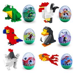Mini plastic penguin online shopping - Mini Animals Building blocks Series Twist Eggs Toys Penguin Frog Dog Macaw Bricks Toys Styles Gifts