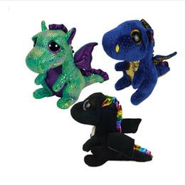 Beanie Boo Wholesalers Australia - Ty Beanie Boos Blue Dragon Plush Toy  Doll With Tag 6 4afb283839f
