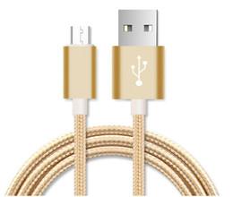 Venta al por mayor de 2M USB A Micro Mini Cable USB Para Android Teléfono Celular Carga Rápida Datos Sincronización Cable de Nylon Cable Largo