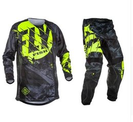 Red Gear Racing Australia - Fly Fish Motocross MX Racing Suit Pants & Jersey Combos Moto Dirt Bike ATV Gear Set Red Black