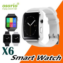 phone lg x6 Australia - Curved Screen X6 Smartwatch Smart Watch Bracelet Phone With SIM TF Card Slot With Camera For LG Samsung Sony All Android Mobile Phone