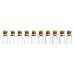$enCountryForm.capitalKeyWord Australia - 10Pcs 12*24MM 1.5ML Mini Glass Bottles Empty Sample Jars with Cork Stoppers for DIY Craft Decoration -