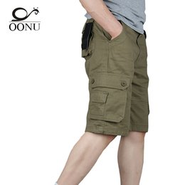 Hot Military Trousers Australia - Yolao Hot Summer Men's Army Cargo Work Casual Bermuda Men Shorts Fashion Overall Military Trousers Plus Size 29-46 J190511