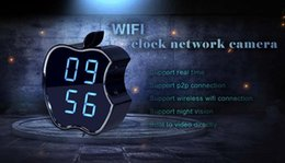 P2p Cameras Australia - invisible WIFI P2P Clock Camera night vision motion detect clock camera