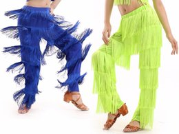 cca60762f New Arrival Samba tassel Latin dance costumes Girls Salsa ballroom Fringe  dance Pants costume Adult Ballroom dancing dress