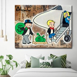 $enCountryForm.capitalKeyWord Canada - Graffiti Art Airplane Alec Monopolyingly Poster Paintings On Canvas Wars Modern Art Wall Pictures For Living Room Home Decor
