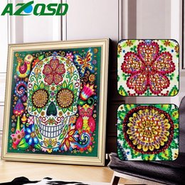 round skull NZ - wholesale Special Shaped Diamond Embroidery Skull Picture Of Rhinestone Round 5d Diy Diamond Painting Sale Decoration Home 25x25cm