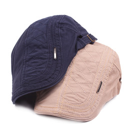 dc80cfcbe9f Fashion Golf Driving Flat Stripe Cotton Ivy Newsboy Hats Caps Unisex Men  Women Casual Berets Adjustable Adults Peaked Cap