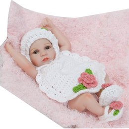 Realistic Girls Toys Australia - Kids Soft Silicone Realistic With Clothes Socks Hat Girls Reborn Baby Doll New Kids Toys Baby Doll