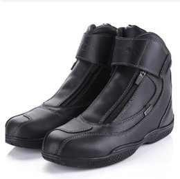 Chopper Cruiser online shopping - new Leather Motorcycle Boots Waterproof Street Motos Boats Motorbike Chopper Cruiser Touring Riding Shoes